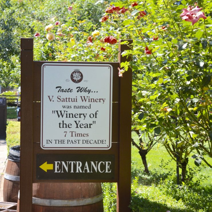 Napa Valley V. Sattui Entrance